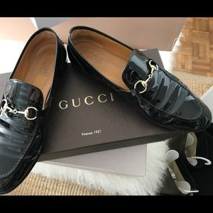 Gucci Loafers patent leather black